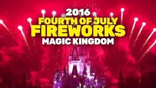 Walt Disney World's Fourth of July 2016 fireworks show highlights from Magic Kingdom