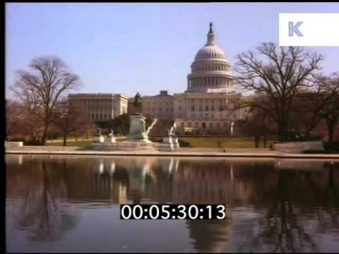 Late 1980s Washington DC, White House, Capitol