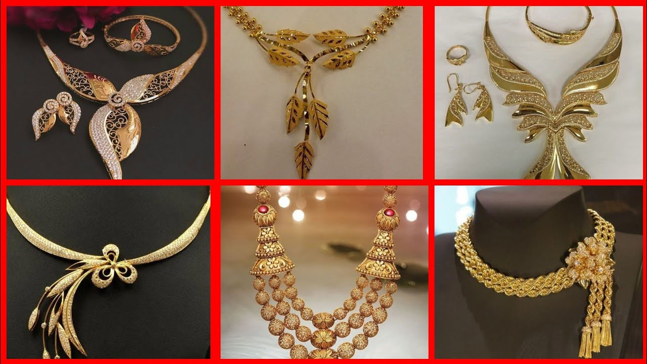 Unique And Stylish Gold Jewellery Set Designs Collection Youtube