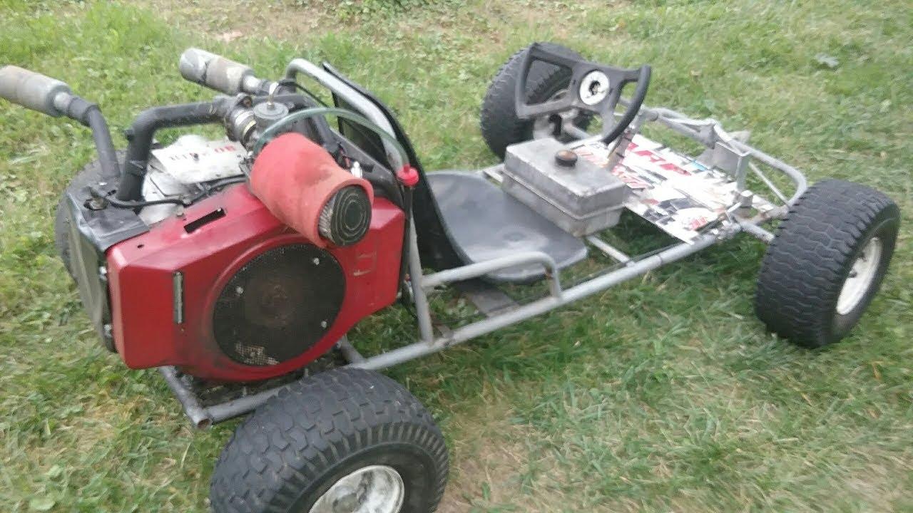 700cc Briggs Twin Go kart horizontal conversion