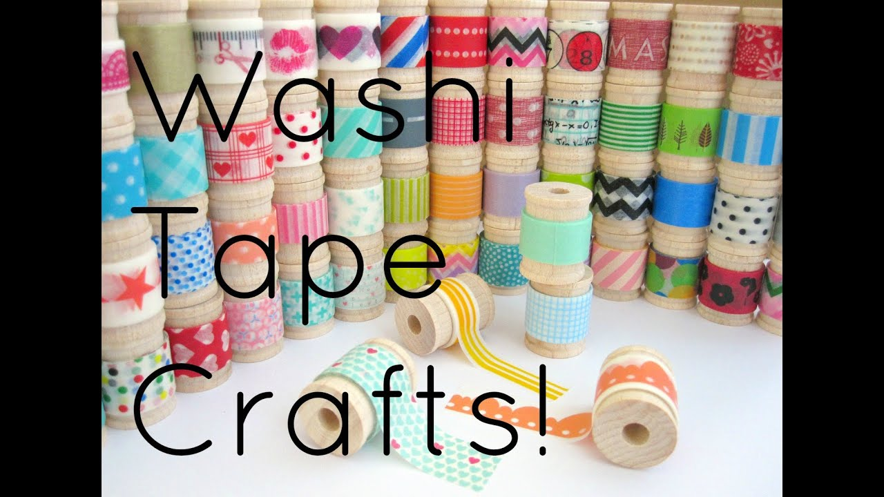 Diy washi tape crafts youtube for Crafts with washi tape