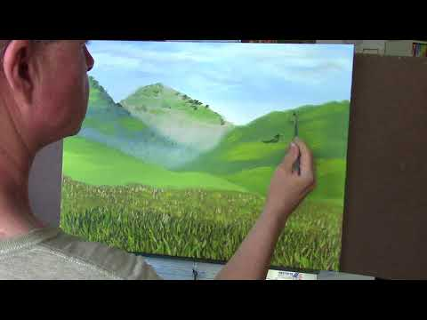 Painting Valley Landscape in Oil - Impressionist
