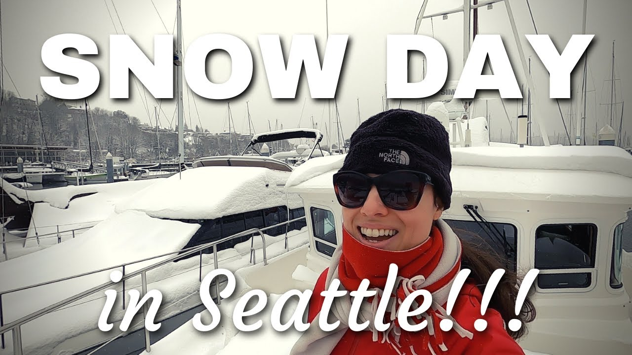 LIVING ON A BOAT during a rare SNOW storm in Seattle, WA!!! [NORDHAVN 43 TRAWLER]