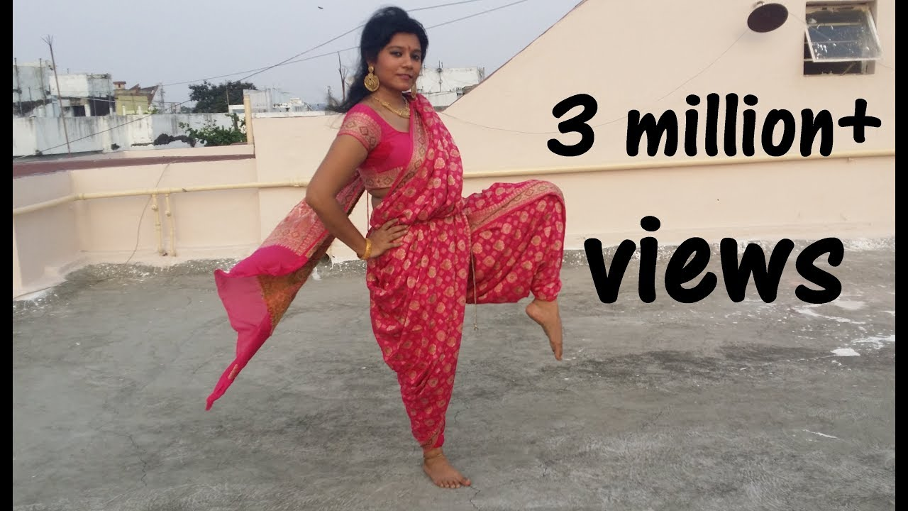 dress - How to bharatanatyam wear saree video video