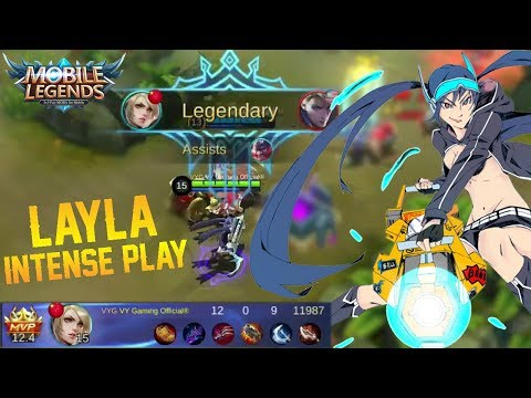 Layla Intense Gameplay And Build - Mobile Legends