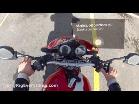What is it Like Wearing Google Glass on a Motorcycle? - JerryRigEverything