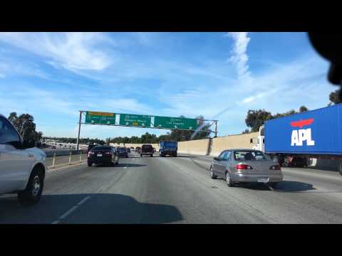 Driving to work on the 91/55/22 Freeway