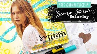 "SCRAP STASH SATURDAY // Using Scrap Paper in Art Journals // ""It Is OK"""