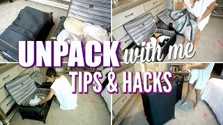 UNPACK WITH ME | TIPS & HACKS | QUICK & EASY UNPACKING AFTER VACATION