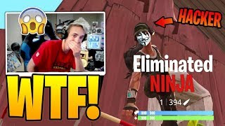 Ninja and DrLupo find a HACKER (Aimbot) at FORTNITE - Fun Moments in Fortnite