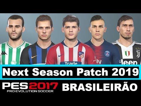 PES 2017 NEXT SEASON PATCH 2019 UPDATE BRASILEIRO by Eno Patch e Gameplay