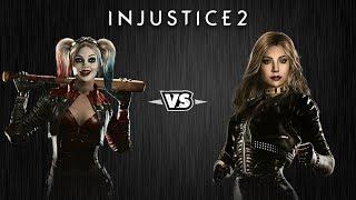 Injustice 2 - Харли Квинн против Чёрной Канарейки - Intros & Clashes (rus)