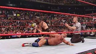Kane puts Kurt Angle in the Ankle Lock: Raw, Nov. 12, 2001