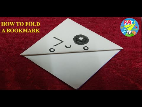 Xếp giấy Origami Hướng dẫn gấp bookmark