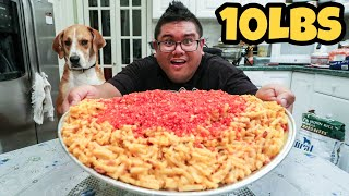 Massive 10 LB Flaming Hot Bacon Mac N Cheese CHALLENGE