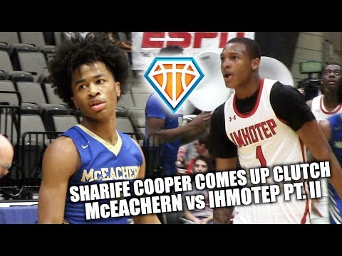 Sharife Cooper CLUTCHES UP & LEADS EPIC COMEBACK!! | McEachern vs Ihmotep Part II