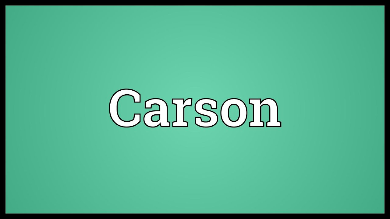 carson name meaning urban dictionary