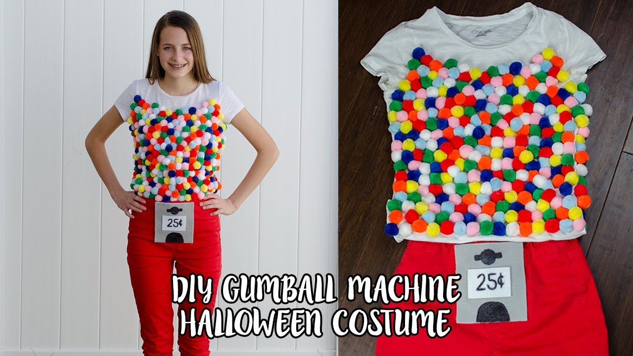 How To Make A Gumball Machine Halloween Costume Simply Dovie Youtube