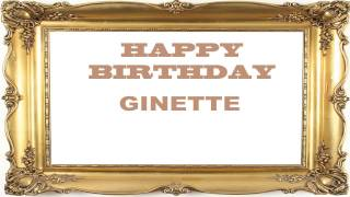 Ginette   Birthday Postcards & Postales