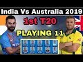India Vs Australia 1st T20 2019 Playing Xi | India Confirm Playing 11 Against Australia In 1st T20