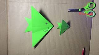 How to make origami paper fish - easy for kid - Mr Simple