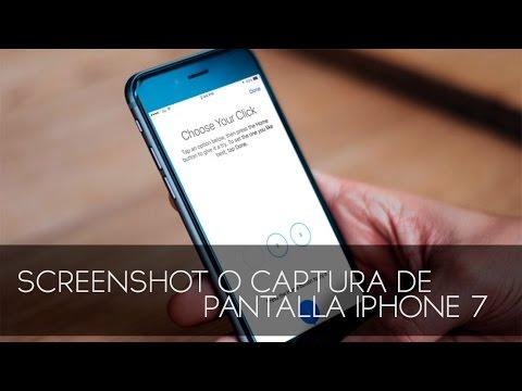IPHONE  7   Captura De Pantalla O Screenshot FACIL HD