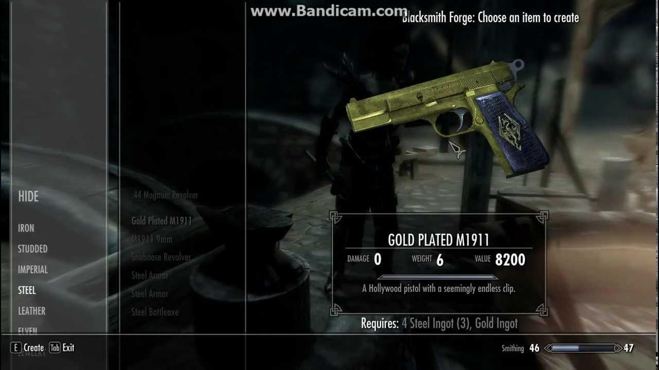 Мод на Пистолет в Скайрим