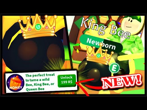 I Opened 200 R$ HONEY Pots & Got KING BEE LEGENDARY Pet In Adopt Me! | Roblox Adopt Me Bee Update
