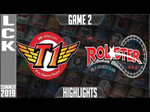 SKT vs KT Highlights Game 2 | LCK Summer 2019 Week 5 Day 3 | SK Telecom T1 vs KT Rolster
