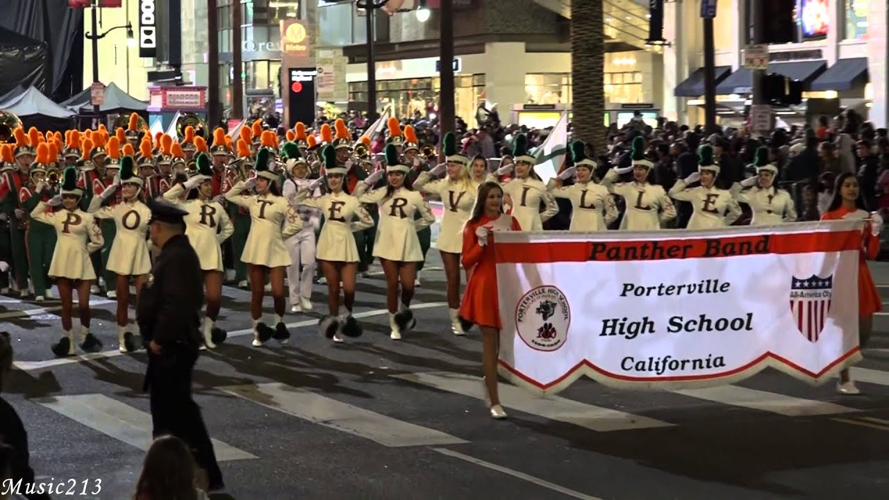 porterville hs 2015 hollywood christmas parade youtube
