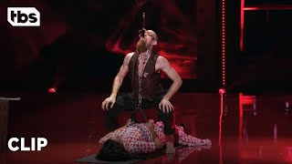 Download Go Big Show: Rosario Dawson Gets Lifted By Sword Swallower (Clip)   TBS