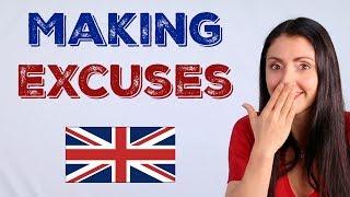 Making Excuses / LIVE ENGLISH LESSON / Learn British English
