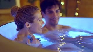 """СПА-бассейн """"Париж"""" 196х66см для 4-6 человек, 945л, тент, насос, подст., доз.химии, подсветка, пульт"""