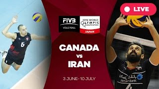 Canada v Iran - 2016 Men's World Olympic Qualification Tournament