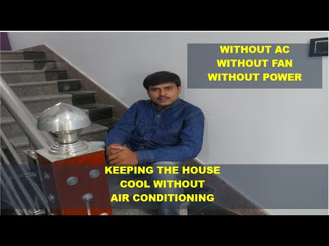 Without AC-Without Fan-Without Electricity    How To Cool House From 40degree To 20Deg Temprature