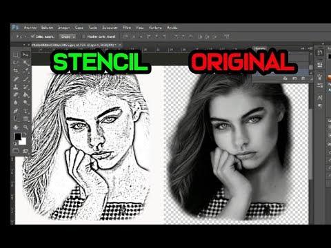 Como Hacer Stencil De Tatuaje En Photoshop - MAKING A TATTOO STENCIL