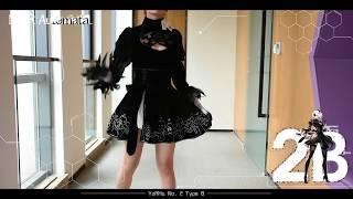 Unboxing - NieR:Automata 2B YoRHa NO.2 Type B Cosplay Costume Black Dress UWOWO Cosplay