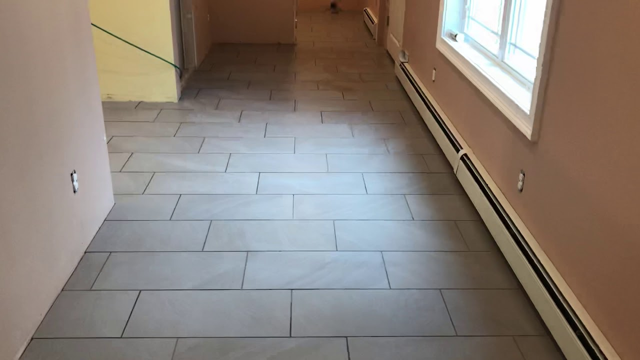 12x24 Tile Installed On A 1 3 Offset