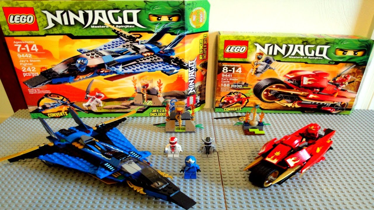 Ninjago Kai S Blade Cycle Amp Jay S Storm Fighter Review