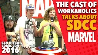 The Cast of Workaholics on Marvel LIVE! at San Diego Comic-Con 2016