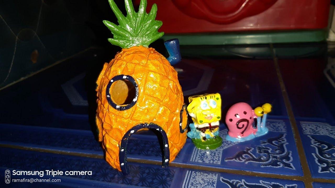 Unboxing Dan Review Hiasan Aquarium Rumah Spongebob Spongebob Dan Gery Siput Youtube