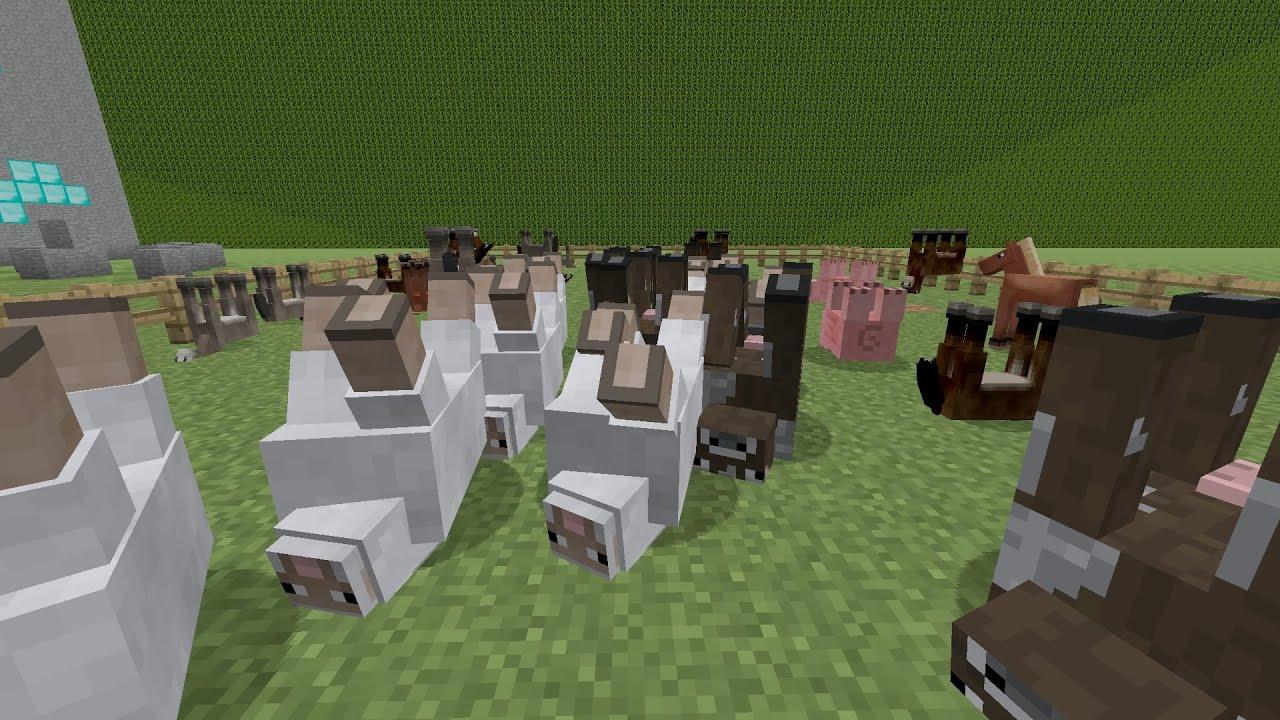 MINECRAFT EASTER EGG GLITCH OO TIERE AUF DEM KOPF - Minecraft mit tieren spielen