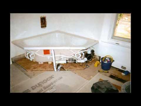 Corner bathtub bathroom designs