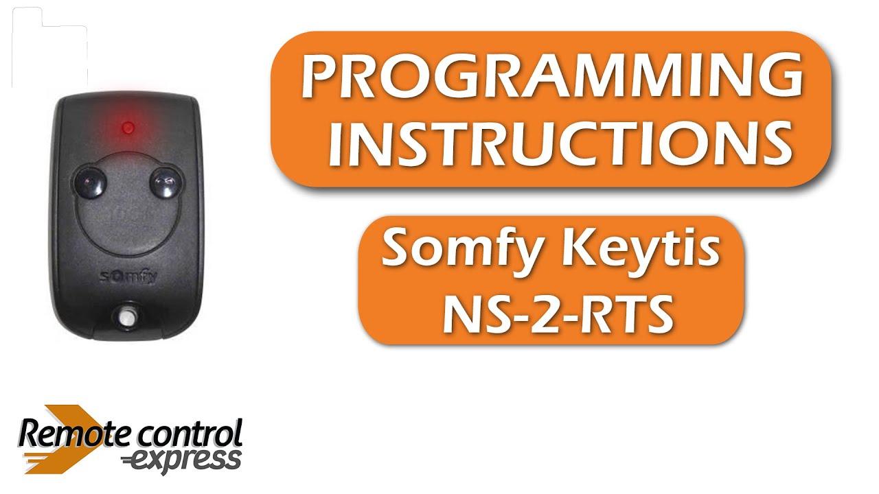 programming my remote somfy keytis ns 2 rts youtube. Black Bedroom Furniture Sets. Home Design Ideas