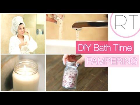 DIY Pampering (Soy Candle, Bath Soak, Gel Eye Patches)