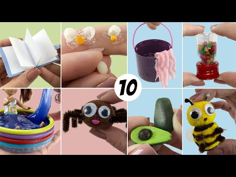 10 DollHouse DIY Miniatures Ideas Easy To Do for Barbie Dolls - Hacks And Crafts