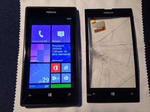 Troca Touch Nokia Lumia 520 ( Sem Aro ) How To Repair The Cracked Screen On Lumia 520