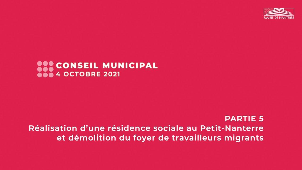 Conseil municipal du 4 octobre 2021 - PARTIE 5