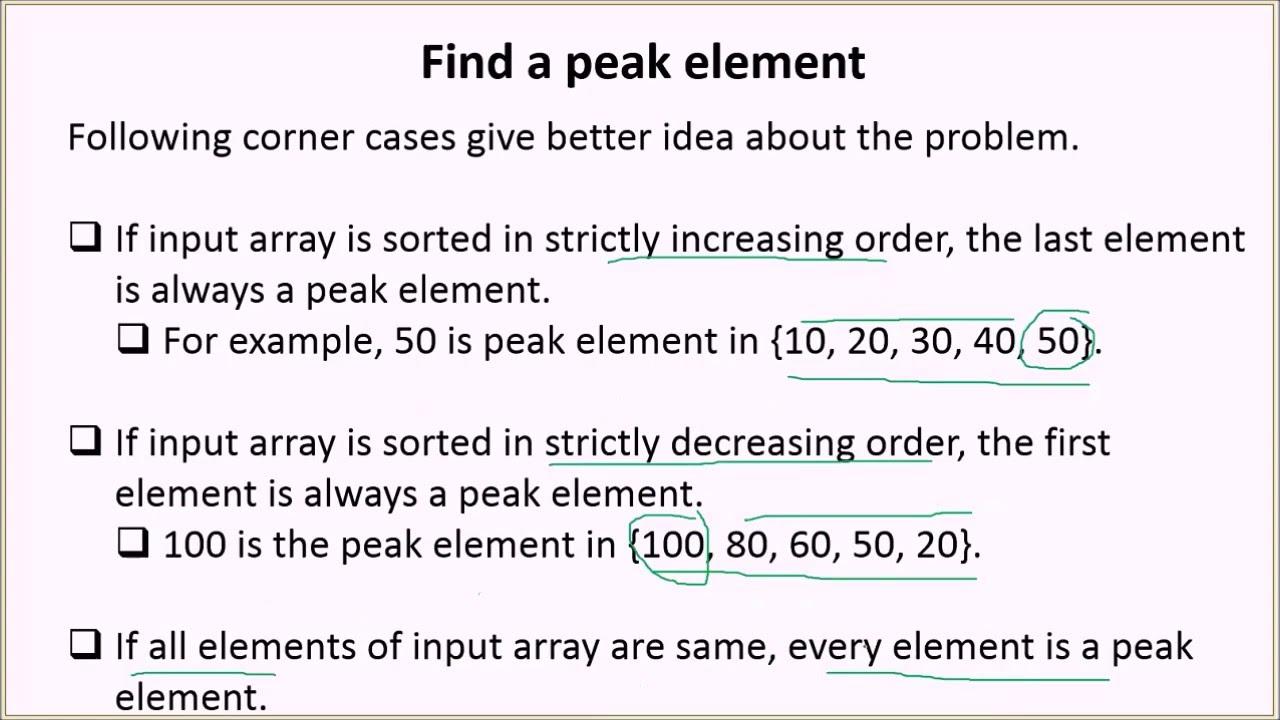 Find a peak element - GeeksforGeeks