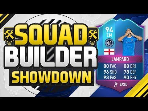 FIFA 17 SQUAD BUILDER SHOWDOWN!!! END OF ERA LAMPARD!!! 94 Rated Legend Lampard